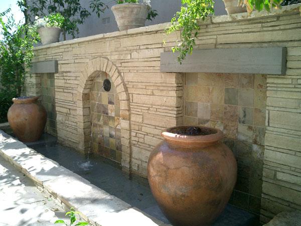 Commercial pond Construction, Garden fountains, Vase fountains