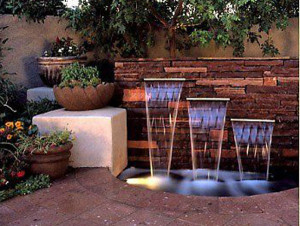 Pond Building: Commercial Pond Construction: Waterfall Wall Fountain
