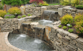 Pond Builders: Commercial Pond Construction: Pond and waterfall