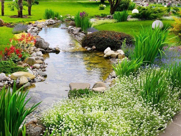 Backyard pond, pond builders, water garden pond, residential pond consruction