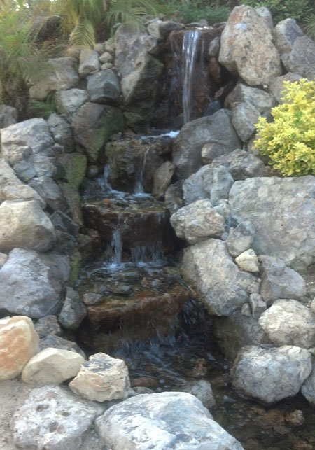 how to make a pondless waterfall