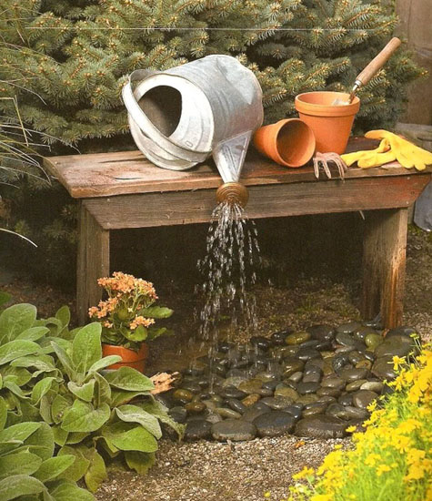 Water fountain ideas pondless fountain pond builders for Pond water features ideas