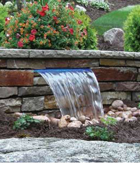 Pond With Water Weir Pacific Ponds And Design Ideas