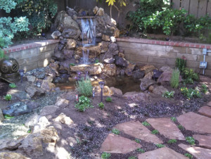 Making a nice backyard with a pond